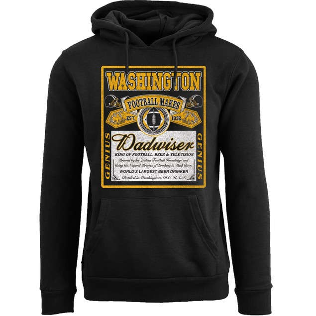 Men's Perfect Gift for Dad Dadwiser Football Pull Over Hoodie