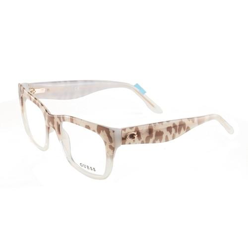Guess Women's Eyeglasses GU2595 047 Leopard/Crystal 52 18 135 Full Rim
