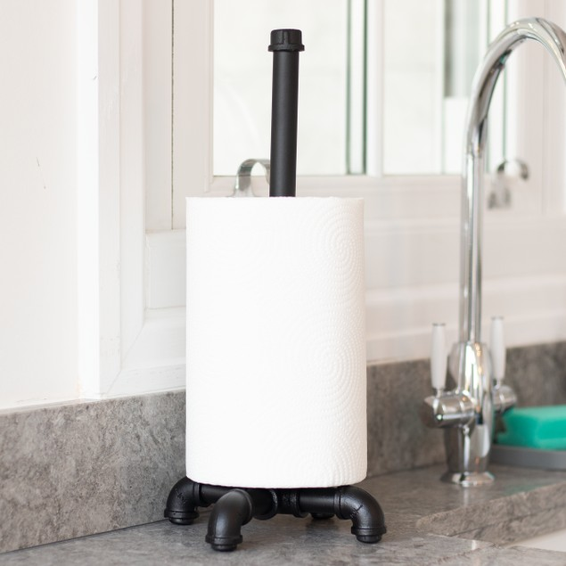 Iron Pipe Paper Towel Holder | MandW