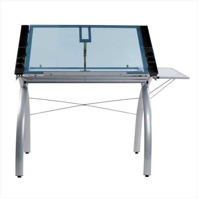 Studio Designs Futura Craft Station with Folding Shelf Glass