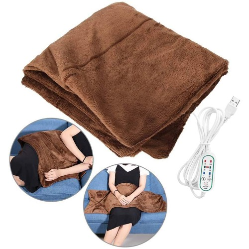 Electric Blanket Heated Soft Throw Shawl 3 Heat Settings 25x39 inch