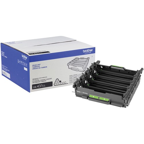 Brothers Brother Printer DR431CL Drum Unit-Retail Packaging, White