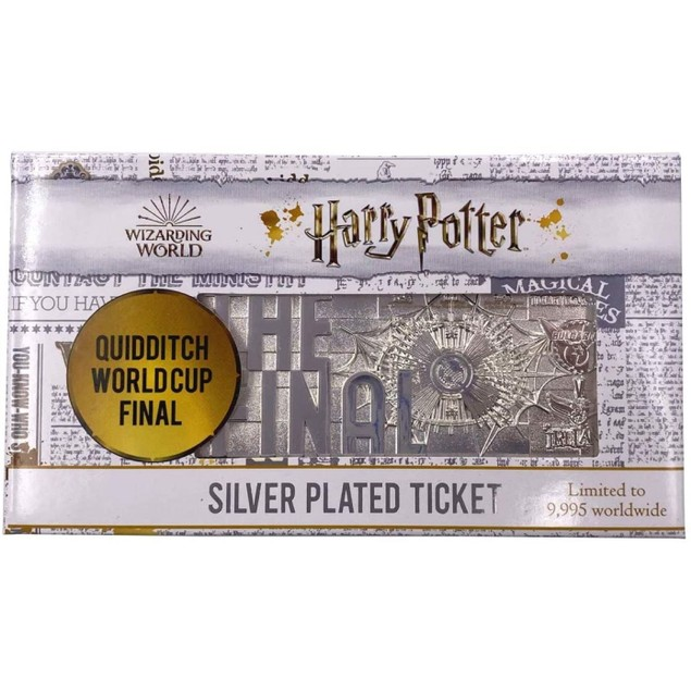 Harry Potter Quidditch World Cup Silver Plated Ticket