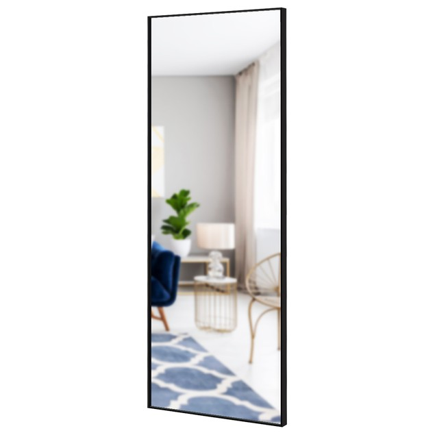 Costway 59''Full Length Body Mirror Aluminum Frame Leaning Hanging Dressing