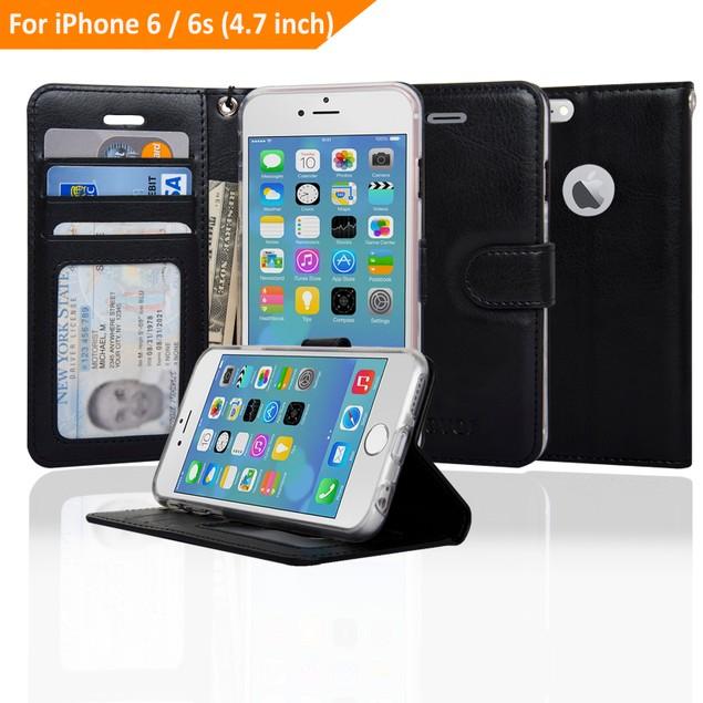 Navor Ultra Slim & Light Flip Wallet case for iPhone 6/6S [4.7 Inch]