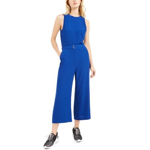 Michael Kors Women's Belted Jumpsuit  Blue Size 10