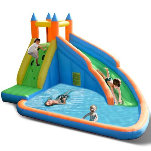 Costway Inflatable Water Slide Mighty Bounce House Castle Moonwalk Jumper W