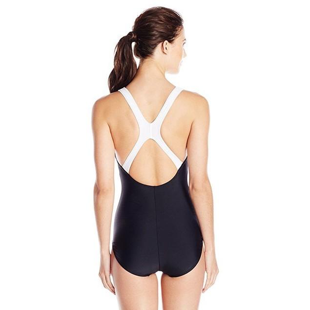 Speedo Contemporary Ultraback One-Piece Swimsuit,Black,  SZ 18