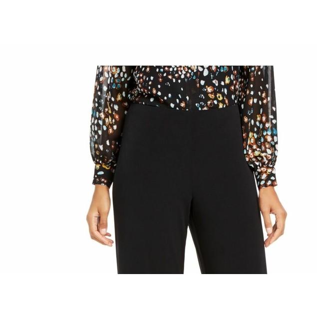 Alfani Women's Petite Knit Wide-Leg Pant Black Size Large