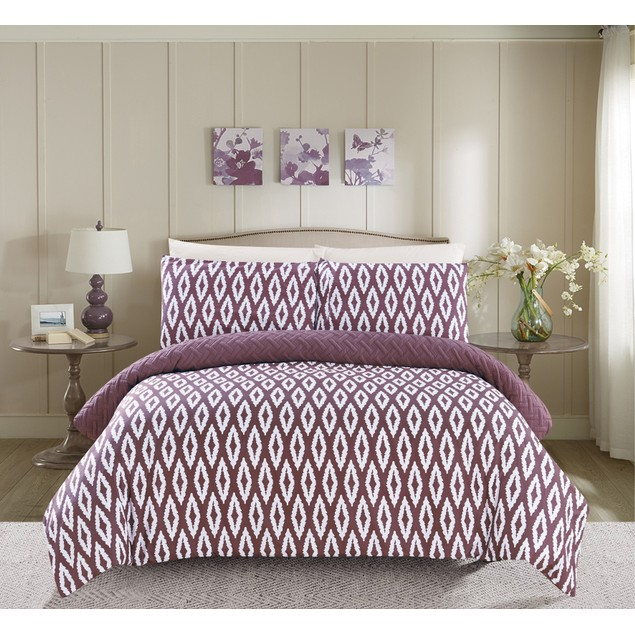 Chic Home 2/3 Pc. Alena Heavy Embossed Embroidered REVERSIBLE Comforter Set