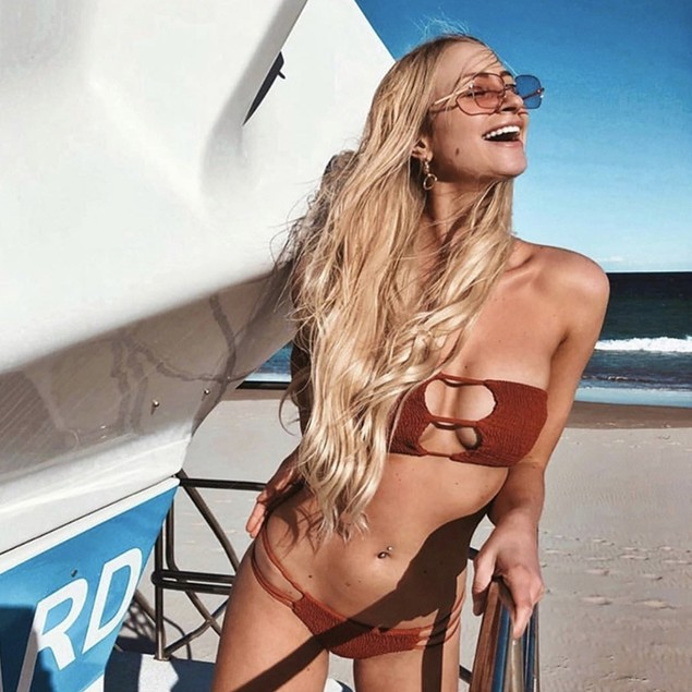 Split Swimsuit Hot Spring Vacation