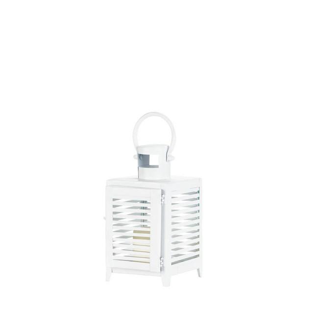 Gallery of Light Small White Horizon Lantern