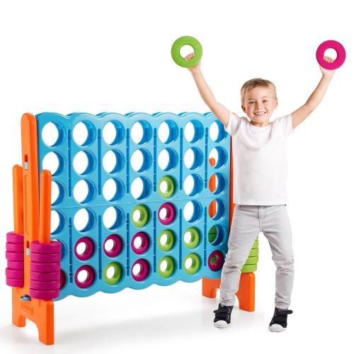 Costway Jumbo 4-to-Score 4 in A Row Giant Game Set Indoor Outdoor Kids Adul