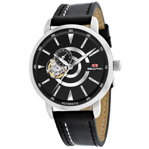 Seapro Men's Elliptic Black Dial Watch - SP0140