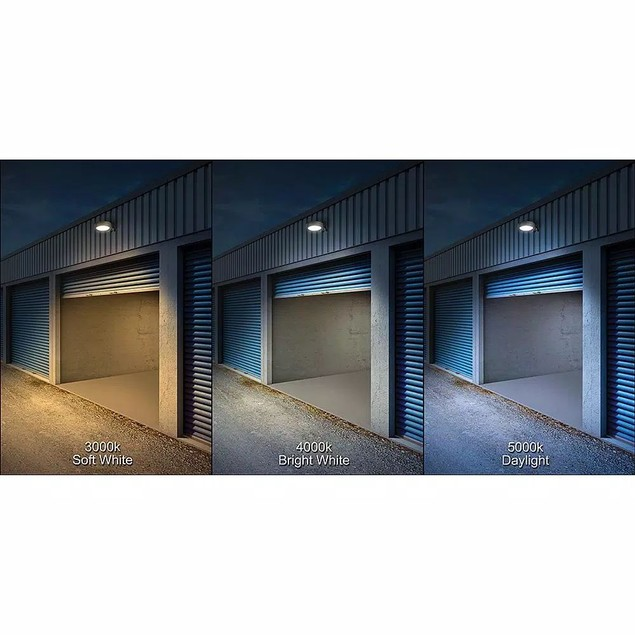 """Commercial Electric 11"""" Bronze Outdoor Integrated LED Entrance Light, 120"""