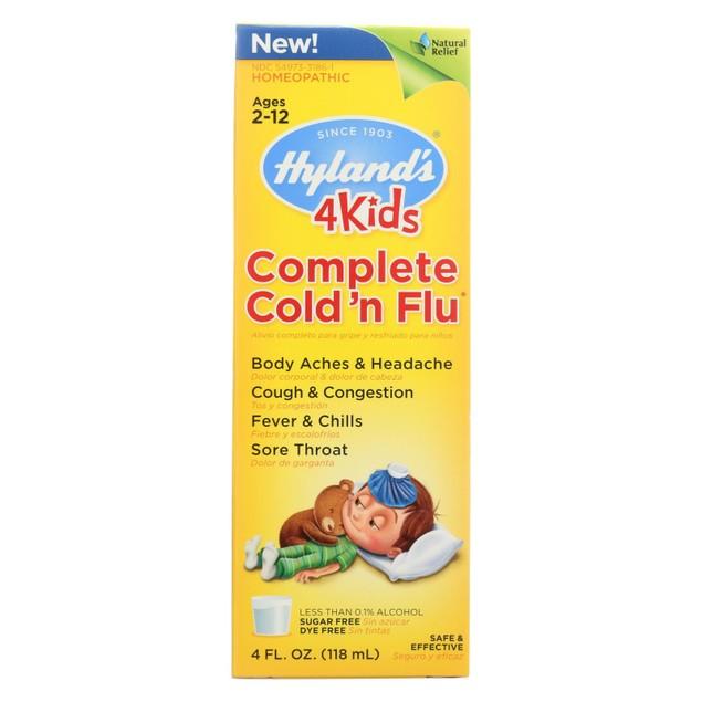 Hylands Homeopathic Cold n Flu - 4 Kids - Complete - Liquid Formula - 4 oz
