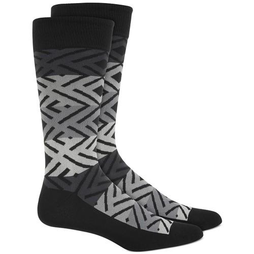 Alfani Men's Printed Socks Black Size Regular