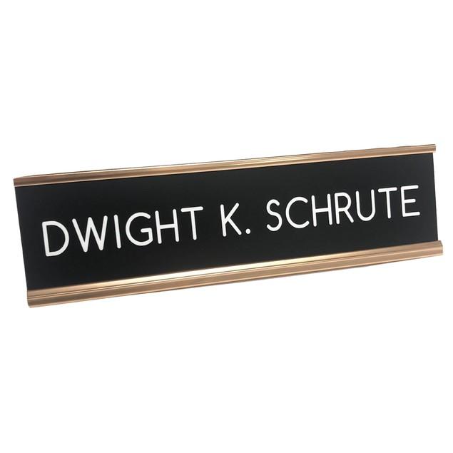 Dwight K. Schrute Desk Name Plate