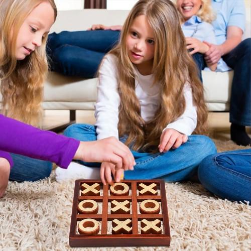 Classic Tic-Tac-Toe Wooden Board Game