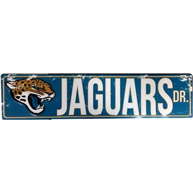 "Jacksonville Jaguars NFL Jaguars Drive ""Distressed"" Metal Street Sign"