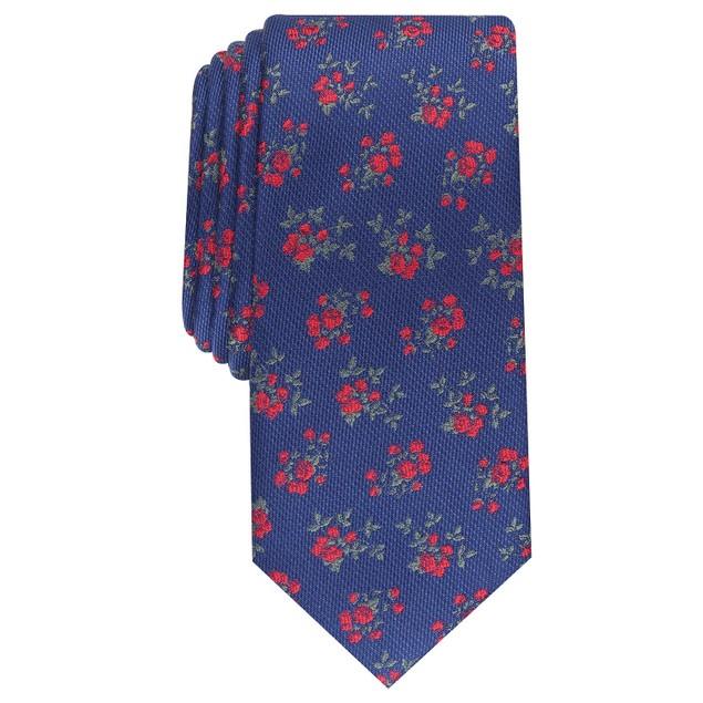 Bar III Men's Nelson Skinny Floral Tie Red Size Regular