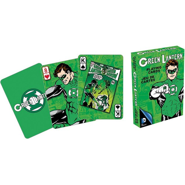 Retro Green Lantern Playing Cards, Cartoons | Comics by NMR Calendars