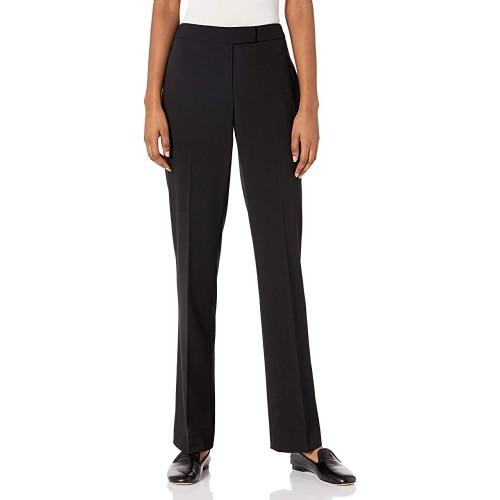 Calvin Klein Women's Flared-Leg Pants Black Size 4