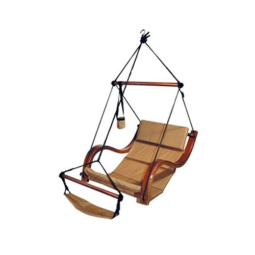 Hammocks Nami Swing Hanging Wave Lounge Chair With Armrest, Footrest,Pillow