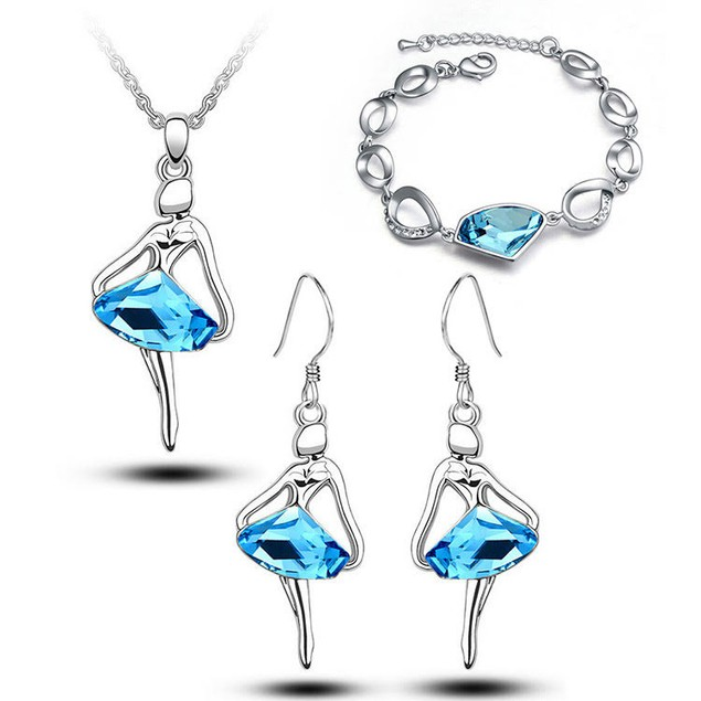 Blue Skirt Jewelry Set