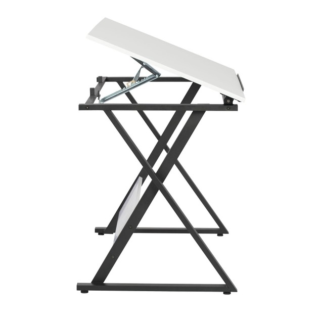 Studio Designs Office Axiom Drawing Table - Charcoal/White
