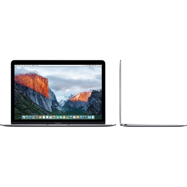 "Apple MacBook MLH72LL/A 12"" 256GB, Space Gray (Certified Refurbished)"