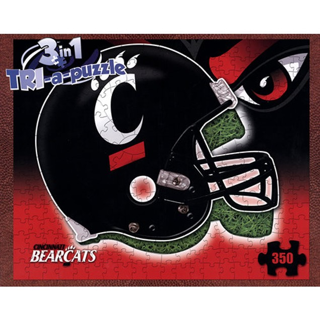 Cincinnati Bearcats Helmet 3-in-1 350 Piece Puzzle, More Puzzles by Late Fo