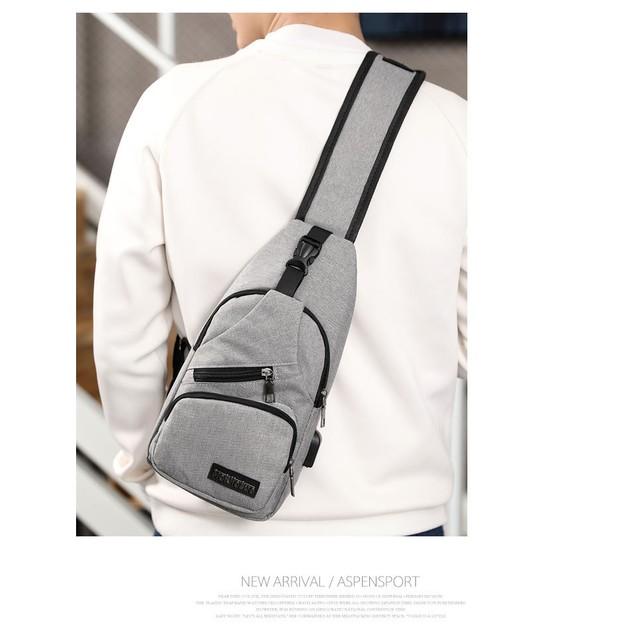 Sling Bag Shoulder Backpack Chest Bag for Women & Men with USB