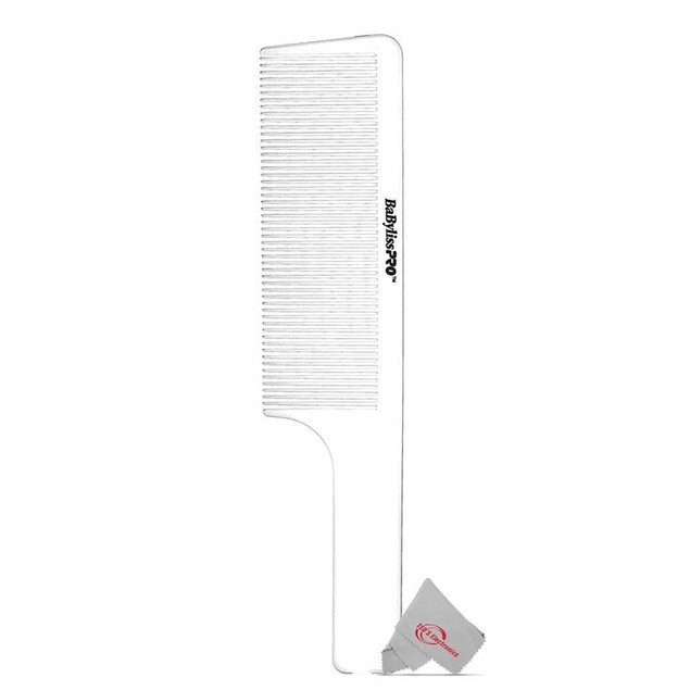 Two BaBylissPRO Barberology 9 Inch Clipper Comb - White