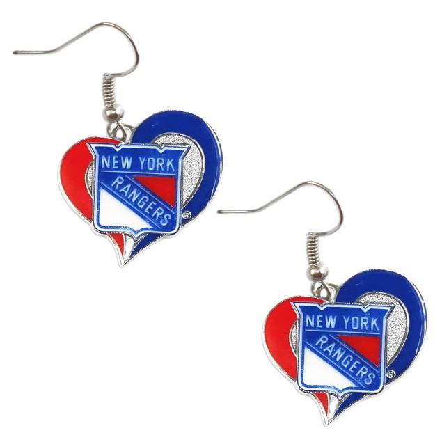 New York Rangers Swirl Heart Earring