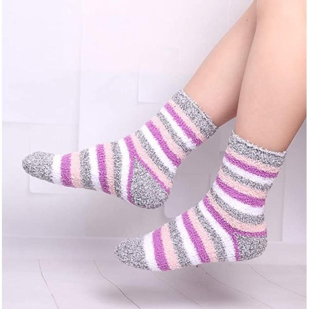 3-Pairs: Ultra Soft Super Plushy Women's Cozy Fuzzy Socks