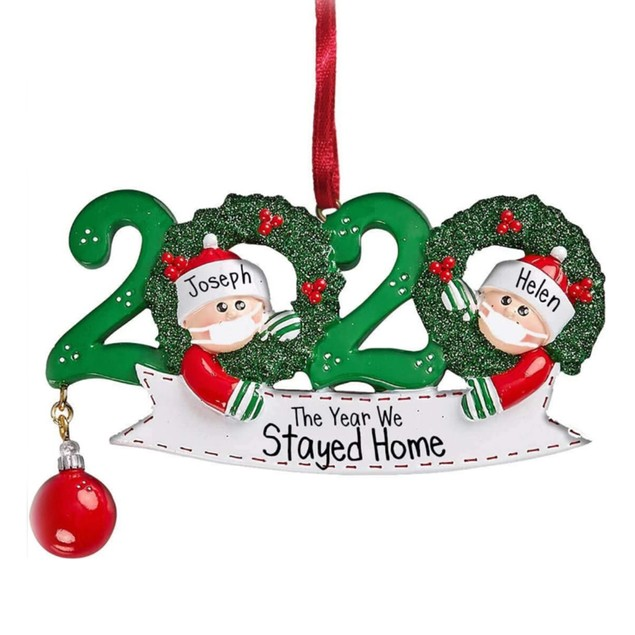 2020 Quarantine Family Personalized Christmas Ornaments (3 Styles)