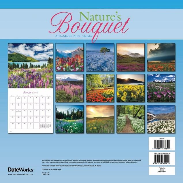 Nature's Bouquet 2018 Wall Calendar
