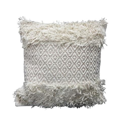 Spura Home Traditional Comfortable Hug Style Gray Moroccan Pillow 18x18