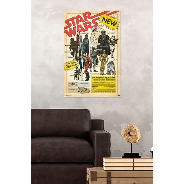Star Wars Action Figures Advertisement Poster