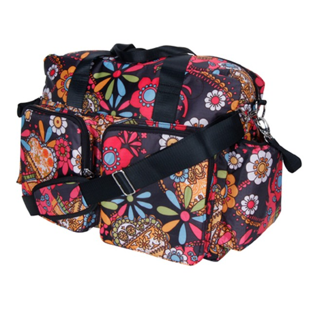 Trend Lab Diaper Bag - Bohemian Floral Deluxe Duffle