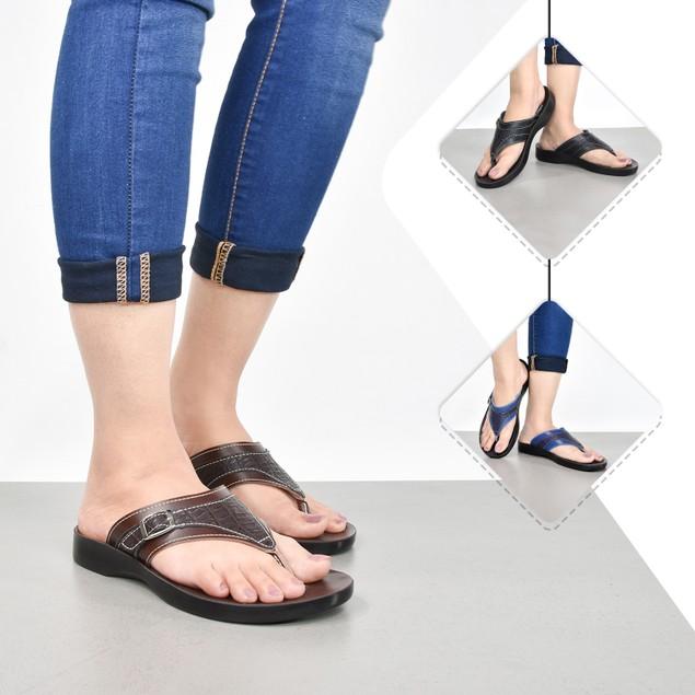 AEROSOFT Elmush Comfortable Synthetic Leather Flip Flops for Women