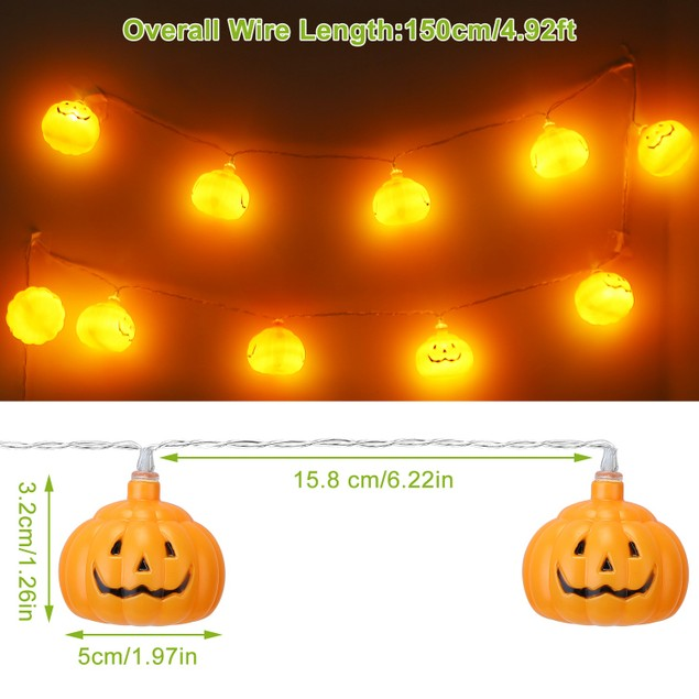 10 LED 4ft 3D Halloween String Light Indoor Bedroom Home Party Festival Decoration