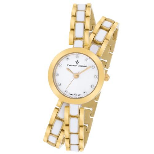 Christian Van Sant Women's Spiral White Dial Watch - CV5612