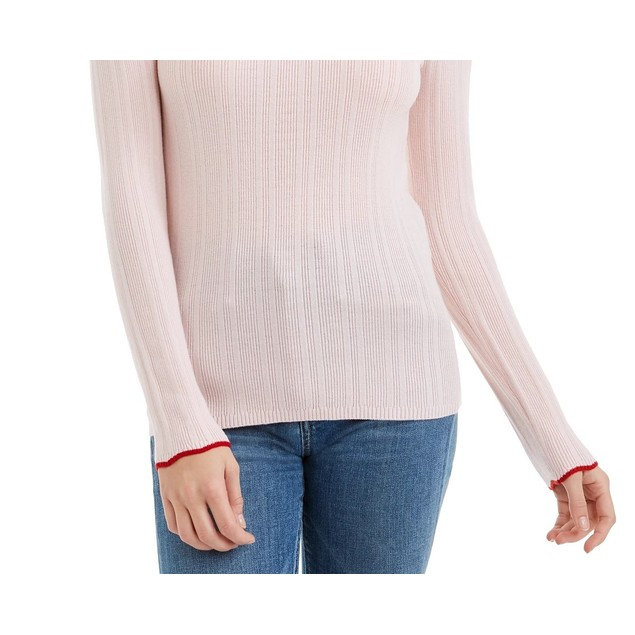 Maison Jules Women's Ribbed Sweater Pink Size Extra Large