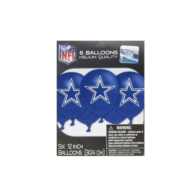 "Dallas Cowboys NFL Printed Latex Balloons 12"" Party Football"