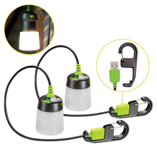 Lumavine LED Hanging Mini Lantern (2-PACK)