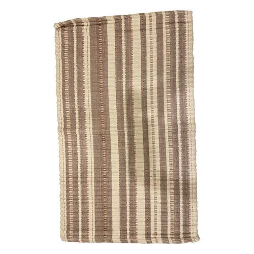 Set of 2 Cotton Bath Rug Weaved, Beige Color, Coil Design Earth Color