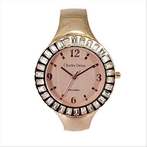 Charles Delon Women Watches 4868 LRRW Rose Gold/Rose Gold Stainless Steel Quartz