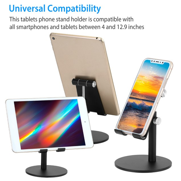 Cell Phone Stand Universal Aluminum Alloy Tablets Phones Stand Holder Height Angle Adjustable